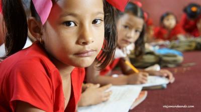 Llegamos a la escuela de Madanpur, Nepal