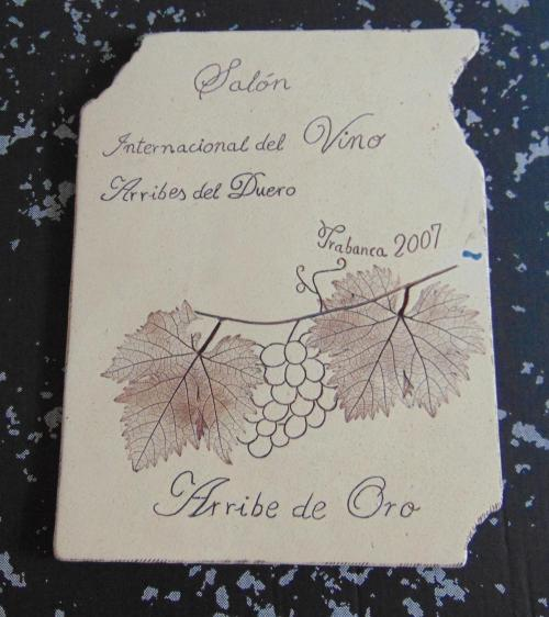 Salón Internacional del Vino Arribes del Duero. Arribe de Oro 2007