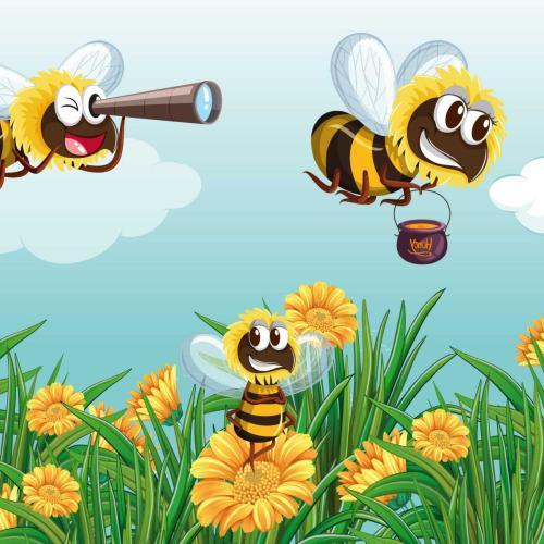 Recolectan néctar y polen de las flores hasta que no pueden recoger más.