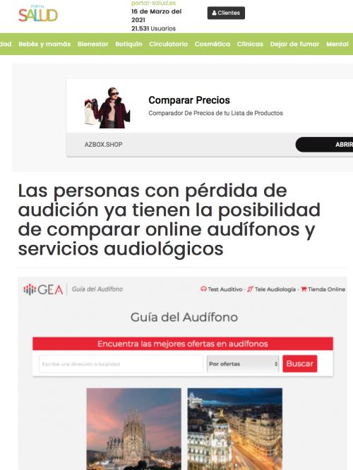 Lanzamiento Guía del Audífono en Portal Salud