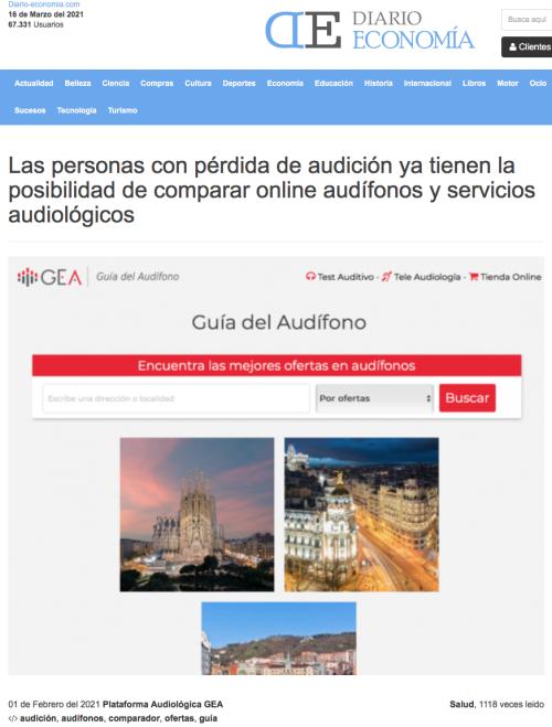 Lanzamiento Guía del Audífono en Diario Economía