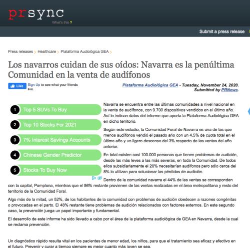 Navarra en PRSYNC