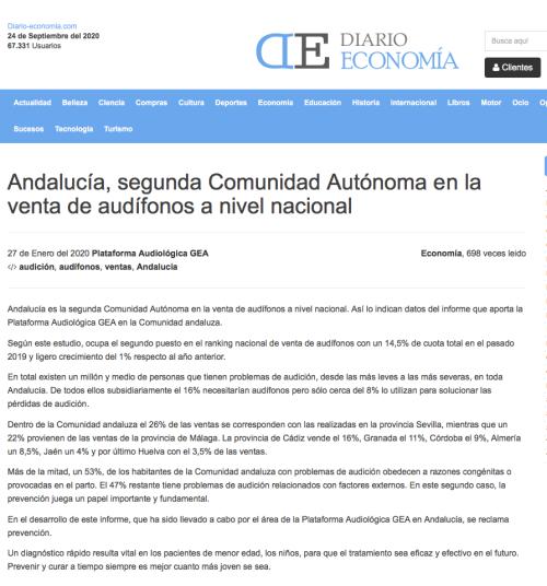 Andalucía en Diario Economía