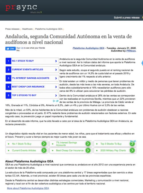Andalucía en PRSYNC