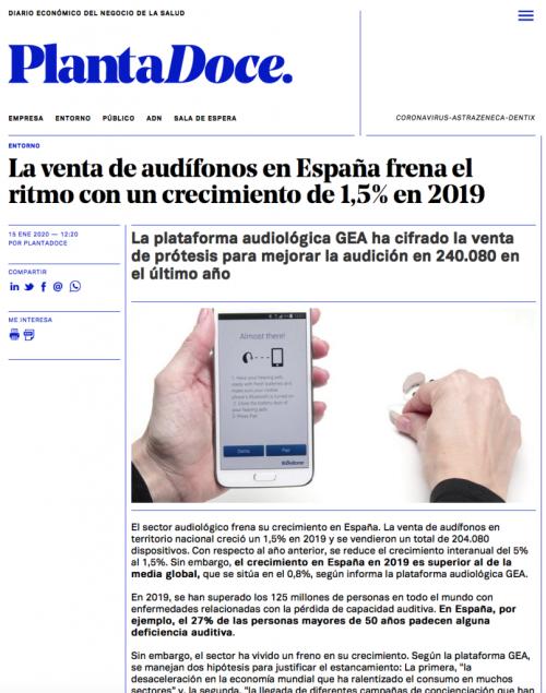 Informe sector Audífonos en Planta Doce