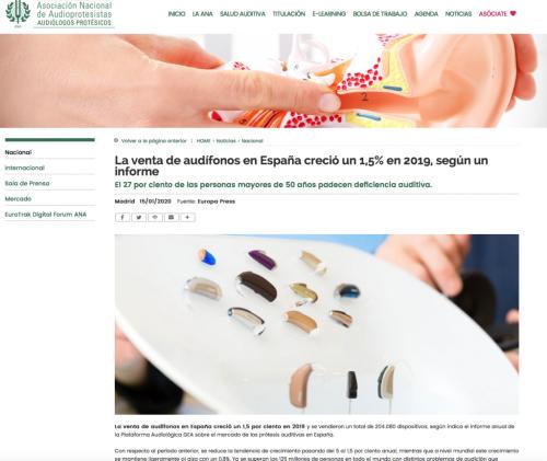 Informe sector Audífonos en Audioprotesistas