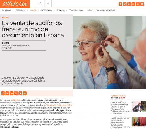 Informe sector Audífonos en 65 y más