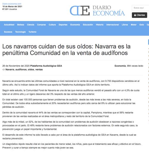 Navarra en Diario Economía