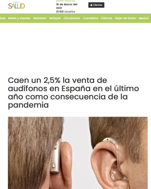 Informe anual venta de audífonos en Portal Salud