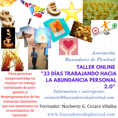 """Taller Online """"33 días Trabajando hacia la Abundancia Personal"""" Edición 2.0"""