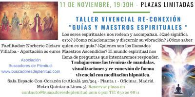 """Taller Vivencial: Re-Conexión """"Guías y Maestros Espirituales"""""""