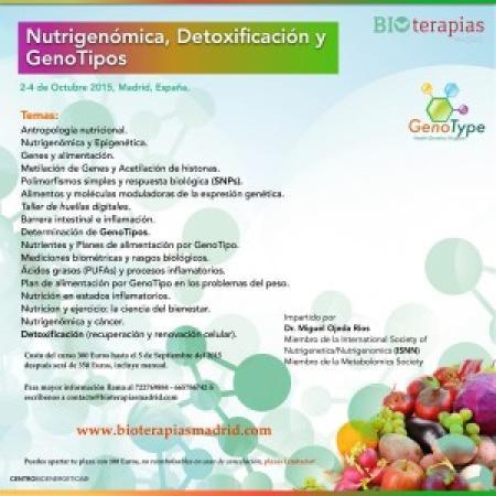 Curso de Nutrigenómica, Detoxificación y Genotipos.