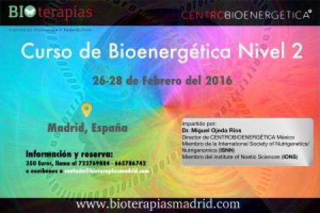 Curso Multimedia de Bioenergética Nivel 2 - Madrid 2016
