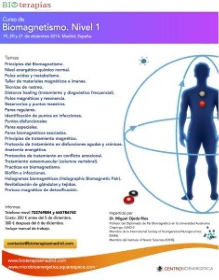 Curso de Biomagnetismo Nivel 1 (polos magnéticos)