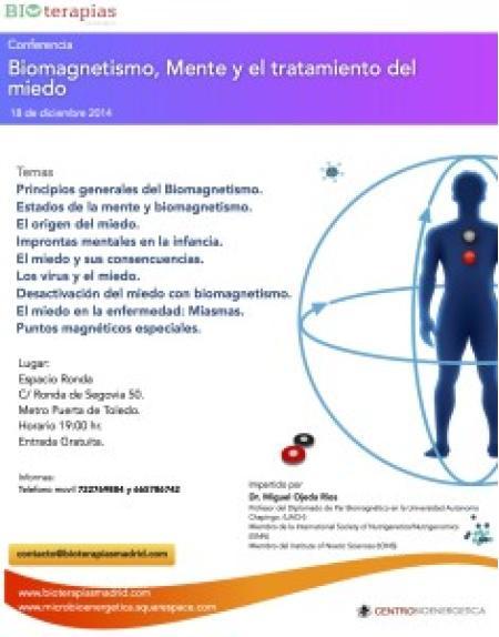 Charla gratuita - Biomagnetismo, Mente y el Tratamiento del Miedo!
