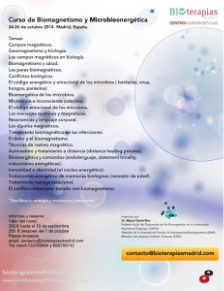 CURSO DE BIOMAGNETISMO Y MICROBIOENERGÉTICA 2014