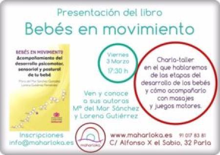 """PRESENTACION LIBRO """"BEBÉS EN MOVIMIENTO"""" PARLA (MADRID)"""