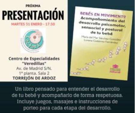 """PRESENTACIÓN """"BEBÉS EN MOVIMIENTO"""" EN TORREJÓN DE ARDOZ (MADRID)"""