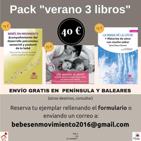 """Pack ahorro verano 2018 - 2 o 3 libros con """"Bebés en Movimiento"""". Hasta fin de existencias."""