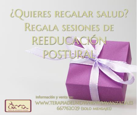 """REGALA SALUD EN FORMA DE SESIONES DE REEDUCACIÓN POSTURAL EN """"TEMA"""""""