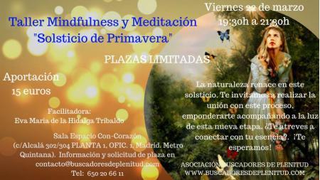 """Taller Mindfulness y Meditación """"Solsticio de Primavera"""""""