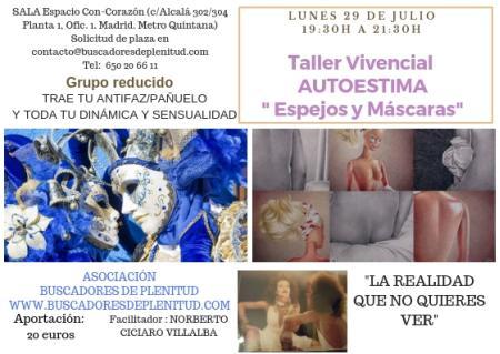 """Taller Vivencial: Autoestima. """"Espejos y Máscaras"""""""