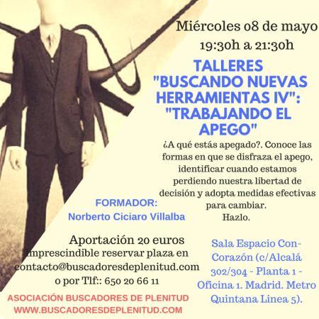 """Cambio de fecha: Talleres """"Buscando Nuevas Herramientas IV"""": """"Trabajando El Apego"""""""