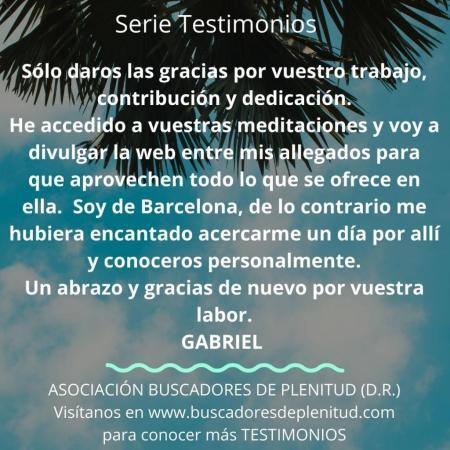 NUESTROS CLIENTES DAN TESTIMONIO - Gabriel
